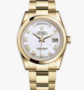 Rolex Day-Date Watch: or jaune 18 carats - M118208 -0087