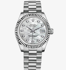 Rolex Datejust Lady 31 Watch: or blanc 18 ct - M178279 -0015