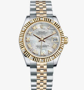 Rolex Datejust Lady 31 Watch: Rolesor jaune - combinaison d'acier 904L et or jaune 18 ct - M178313 -0002