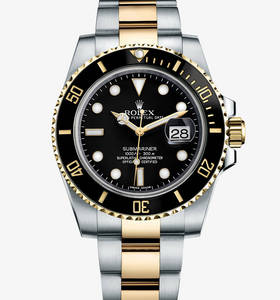 Rolex Submariner Date Watch: Rolesor jaune - combinaison d'acier 904L et or jaune 18 ct - M116613LN -0001